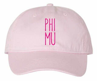 Phi Mu Mod Comfort Colors Pigment Dyed Baseball Cap