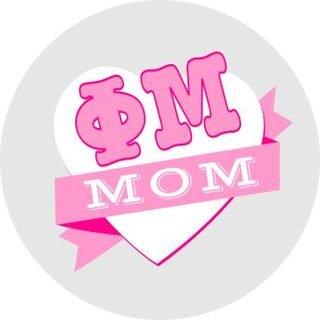 Phi Mu Mom Round Decals