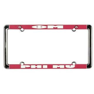 Phi Mu New Design License Plate Frame