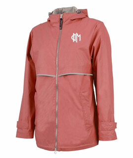 Phi Mu New Englander Circle Monogram Rain Coat