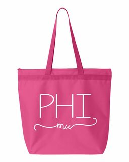 Phi Mu New Handwriting Tote Bag