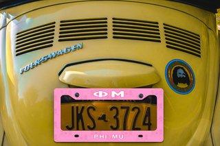 Phi Mu New License Plate Frame