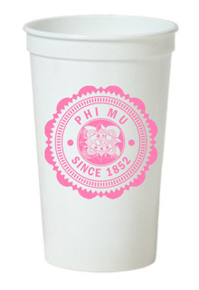 Phi Mu Old Style Classic Giant Plastic Cup