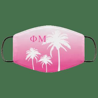 Phi Mu Palm Trees Face Mask