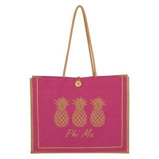 Phi Mu Paradise Jute Bag