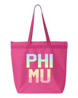 Phi Mu Pastel Tote Bag