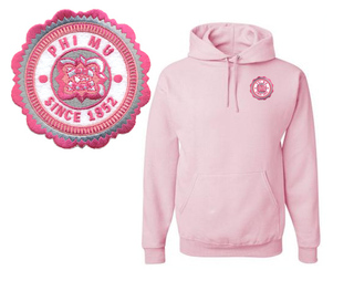 Phi Mu Patch Seal Hooded Sweatshirt