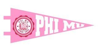 Phi Mu Pennant Decal Sticker