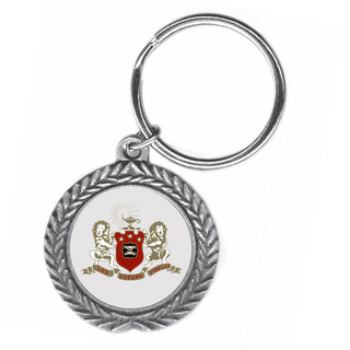 Phi Mu Pewter Key Ring