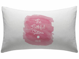 Phi Mu Motto Watercolor Pillowcase