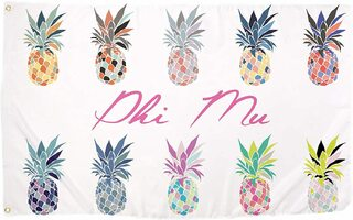 Phi Mu Pineapple Flag