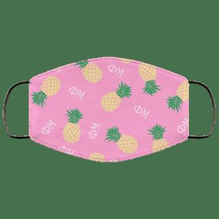 Phi Mu Pineapples Face Mask