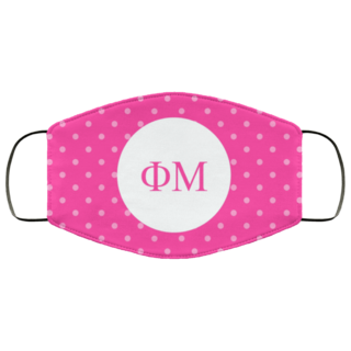 Phi Mu Polka Dots Face Mask