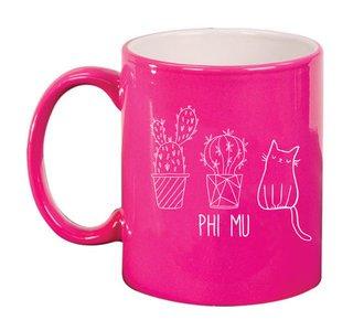 Phi Mu Purrrfect Sorority Coffee Mug