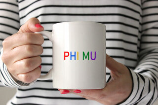 Phi Mu Rainbow Coffee Mug