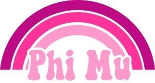 Phi Mu Rainbow Decals