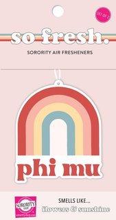 Phi Mu Rainbow Retro Air Freshener - Flowers & Sunshine Scent