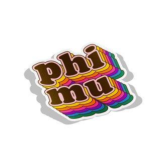 Phi Mu Retro Maya Decal Sticker