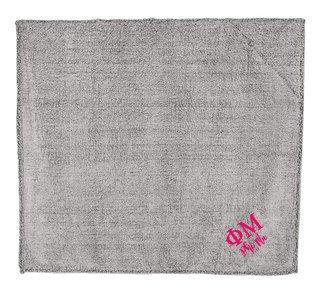 Phi Mu Sherpa Blanket