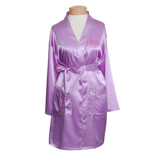 Phi Mu Short Satin Robe