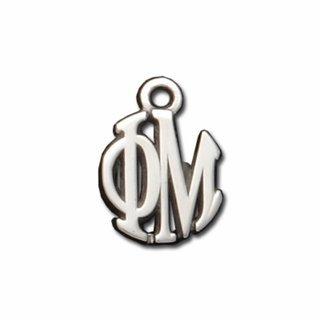 Phi Mu Silver Circle Charm - CLOSEOUT