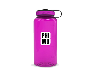 Phi Mu Simple Wide Mouth Water Bottle