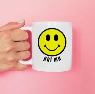 Phi Mu Smiley Face Coffee Mug - Personalized!