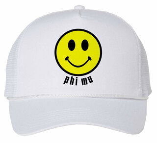 Phi Mu Smiley Face Trucker Hat
