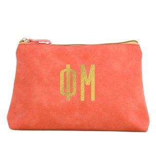 Phi Mu Sorority Cosmetic Bag