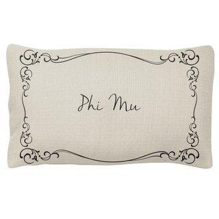 Phi Mu Sorority Lumbar Pillows