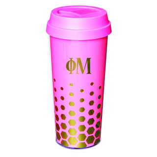 Phi Mu Sparkle Coffee Tumblers