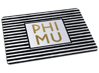 Phi Mu Striped Mousepad