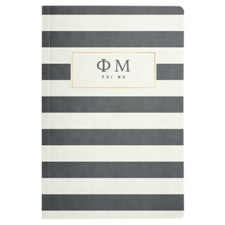 Phi Mu Striped Notebooks