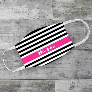 Phi Mu Stripes Face Mask