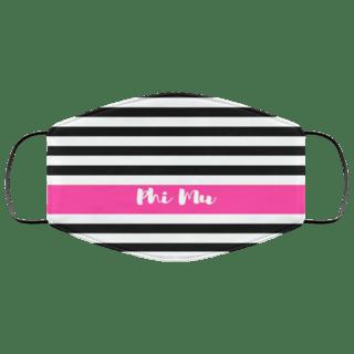 Phi Mu Stripes Face Mask