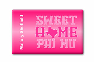 Phi Mu Sweet Home Ceramic Magnet