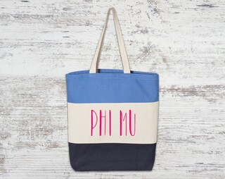 Phi Mu Tri Color Tote Bag