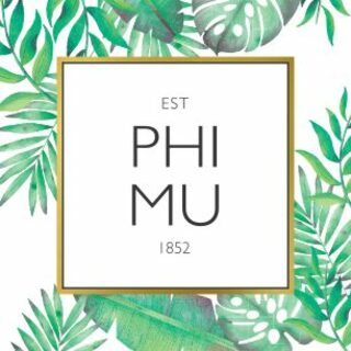 Phi Mu Tropical Sticker Decal