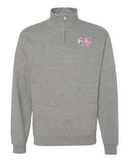 Phi Mu Twill Greek Lettered Quarter zip