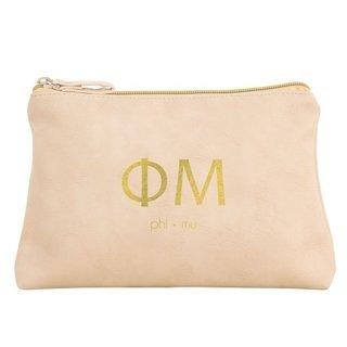 Phi Mu Vegan Leather Cosmetic Bags
