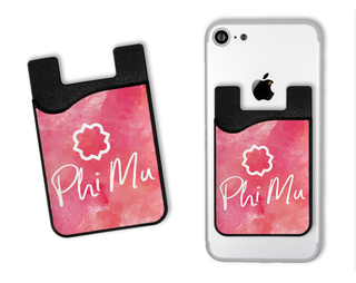 Phi Mu Watercolor Caddy Phone Wallet