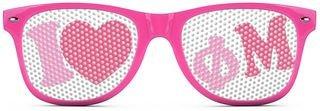Phi Mu Wayfarer Style Lens Sunglasses