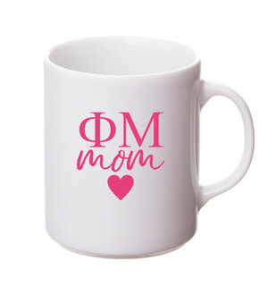 Phi Mu White Personalized Coffee Mug