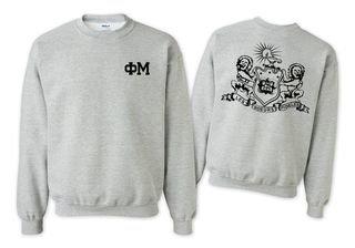 Phi Mu World Famous Crest - Shield Crewneck Sweatshirt- $25!