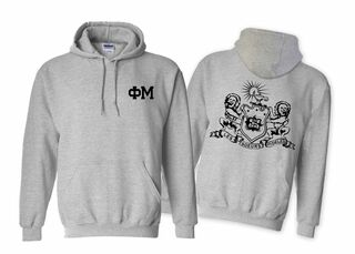 Phi Mu World Famous Crest Hooded Sweatshirt- $35!