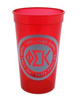 Set of 10 - Phi Sigma Kappa Big Ancient Greek Letter Stadium Cup - Clearance!!!