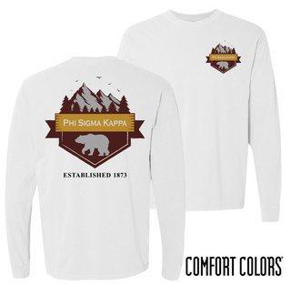 Phi Sigma Kappa Big Bear Long Sleeve T-shirt - Comfort Colors