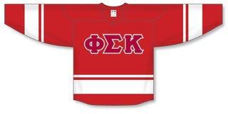 DISCOUNT-Phi Sigma Kappa Breakaway Lettered Hockey Jersey