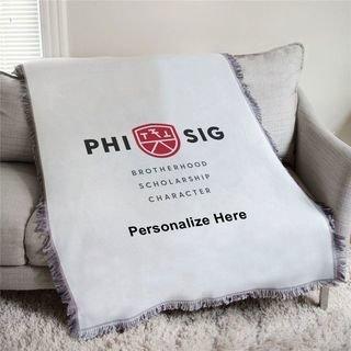 Phi Sigma Kappa Brotherhood Afghan Blanket Throw