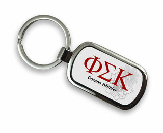 Phi Sigma Kappa Chrome Crest - Shield Key Chain